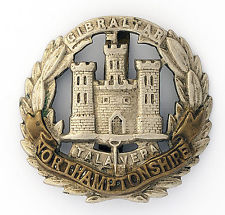 Northamptonshire Regiment cap badge ww1